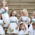 Mia Tindall joined a gaggle of adorable bridesmaids and pageboys Image GETTY