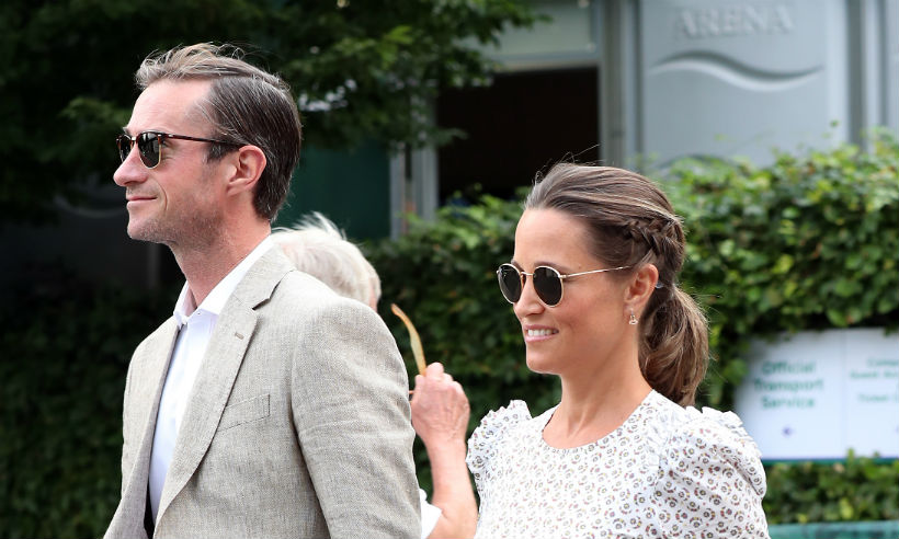 Pippa Middleton and James Matthews pictured with baby son for first time Photo C GETTY IMAGES