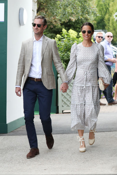 Pippa Middleton and James Matthews welcomed their first child last week Photo C GETTY IMAGES