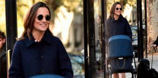 Pippa Middleton is pictured for first time since giving birth to baby boy Image SPLASHNEWS COM