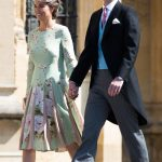 Pippa first showed off her baby bump at Meghan Markles wedding Getty
