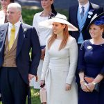 Prince Andrew and Sarah pictured with Princess Beatrice at Royal Ascot this year Image GETTY