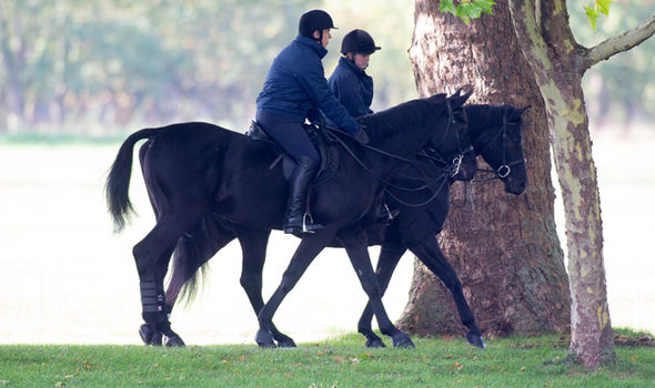 Prince Andrew enjoyed a morning horse ride around Windsor today Image Kelvin Bruce