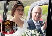 Prince Andrew shares new beautiful photos from inside Princess Eugenies wedding reception Photo C GETTY