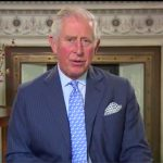 Prince Charles has the official portrait from Prince Louis christening proudly on display Photo C GETTY IMAGESW