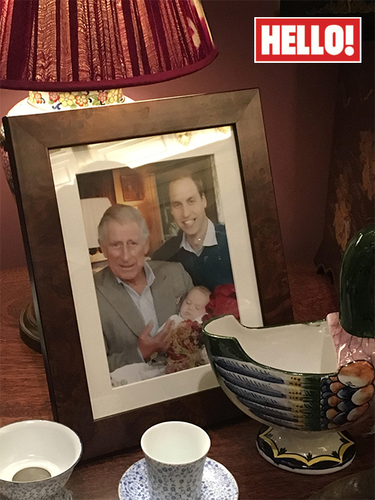 Prince George and Prince Charles Photo C HELLO