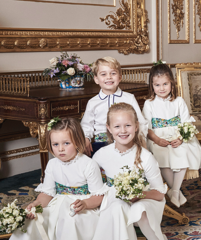 Prince George and Princess Charlotte Elizabeth Diana Official Photo on Princess Eugenie Wedding Photo C Alex Bramall MEGA