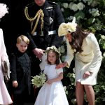 Prince George and Princess Charlotte at Harry and Meghans wedding Image GETTY