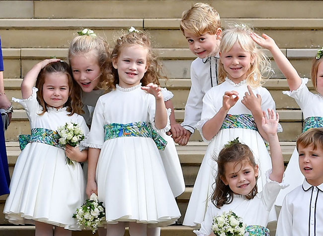 Prince George and Princess Charlotte were in the bridal party Photo C GETTY