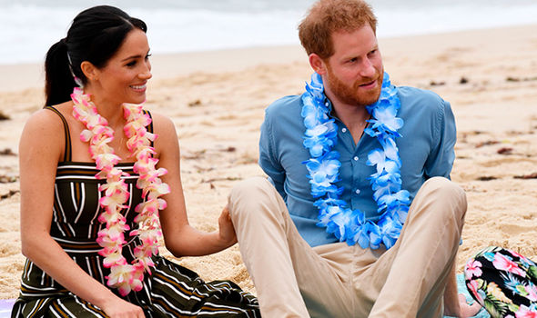 Prince Harry and Meghan Markle took part in a workshop organised by One Wave on Sydneys Bondi Beach Image Getty