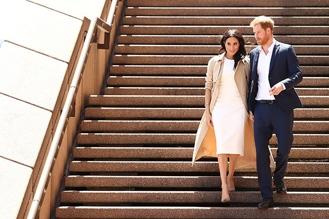 Prince Harry and Meghan at Sydney Opera House Photo C GETTY