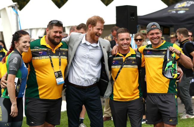 Prince Harry attended the cycling event without Meghan Markle Photo C GETTY