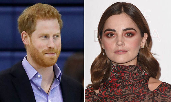 """Prince Harry had an """"awkward"""" meeting with Jenna Coleman it has been claimed Image GETTY"""
