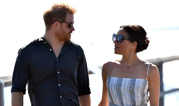 Prince Harry has told Meghan to pace herself during the remaining days of their trip Image EPA 1