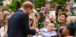 Prince Harry seemed to love meeting little Harriet Photo C GETTY