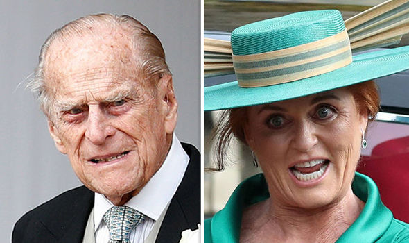 Prince Philip took quite a big step towards reconciling with Sarah Ferguson Image AFP GETTY REUTERS