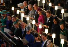 Prince Philip was seated behind Sarah Ferguson during the wedding ceremony Image PA