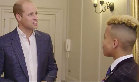 Prince William meets street dancer Junior Image BBC