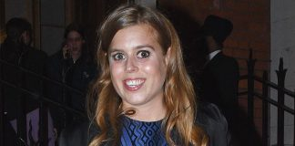 Princess Beatrice braves the cold in a stunning blue metallic mini dress and looks gorgeous Photo C GETTY Copy