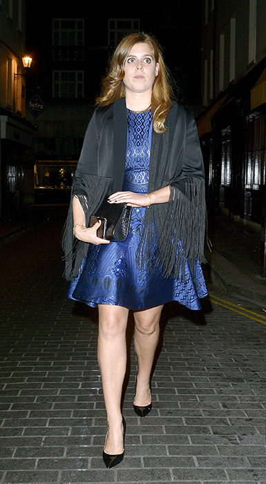 Princess Beatrice looked blue ti ful on a night out in London Photo C GETTY Copy