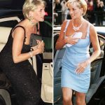 Princess Diana The royal used a bag to cover her chest when stepping out of cars Image GETTY