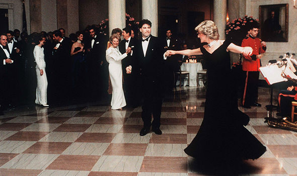 Princess Diana dancing with John Travolta Image GETTY