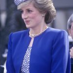 Princess Diana first wore the earrings on her royal tour of Canada in May 1986 pictured