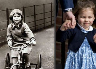 Princess Elizabeth and Princess Charlotte bear a striking resemblance Image GETTY