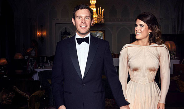 Princess Eugenie and Jack Brooksbank ahead of the private evening dinner Image REUTERS