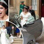 Princess Eugenie and Jack Brooksbank have left for their evening celebrations Image ITV