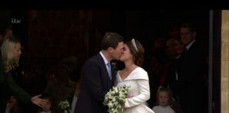 Princess Eugenie and Jack Brooksbank have shared their first kiss Image ITV