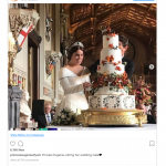 Princess Eugenie and her new husband cutting their wedding cake a photo which presumably shouldnt have been leaked Photo C INSTAGRAM