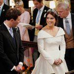 Princess Eugenie beams at her new husband Image PA