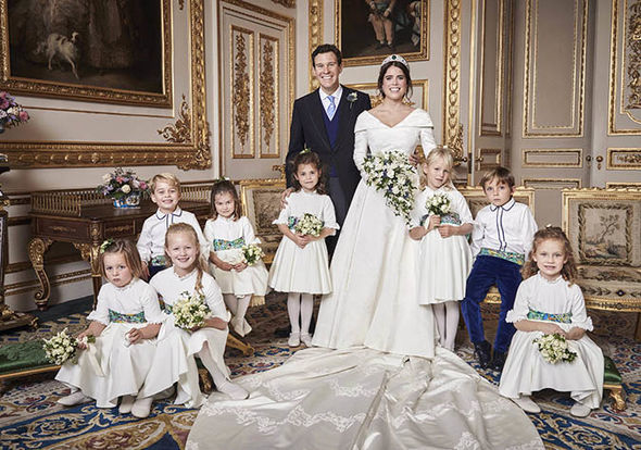 Princess Eugenie official photos revealed her stunning evening reception dress Image PA