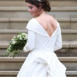 Princess Eugenie specifically requested to have a low backline in her dress Image EPA 1 1