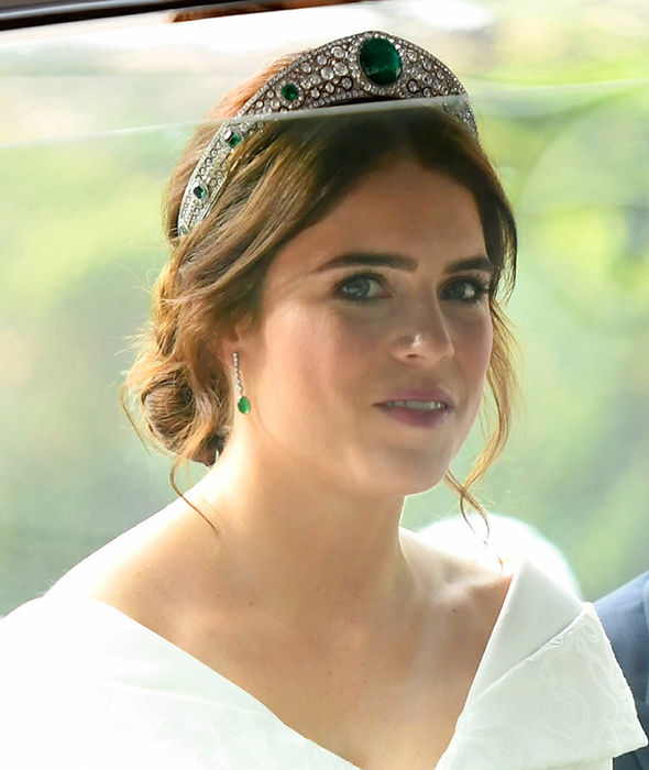 Princess Eugenie wedding live Princess Beatrice and Sarah Ferguson waved to crowds Image GETTY