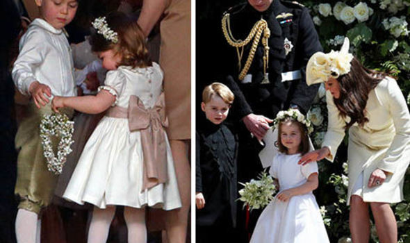 Princess Eugenie wedding Charlotte and George were part of Meghan and Pippas weddings Image GETTY