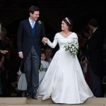 Princess Eugenie wedding Eugenie's dress had an open back to show off her spinal scar Image Getty