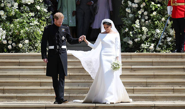 Princess Eugenie wedding Meghans wedding dress was designed by Clare Waight Keller for Givenchy Image Getty