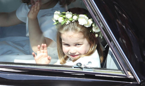 Princess Eugenie wedding Princess Charlotte stole the show at Meghan and Harrys wedding Image GETTY