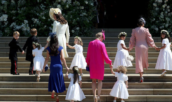 Princess Eugenie wedding The young royals have had plenty of practice as page boys and flower girls Image GETTY