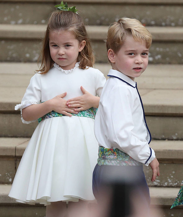 Princess Eugenie wedding live Princess Charlotte and Prince George look adorable Image PA