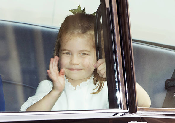 Princess Eugenie wedding live Princess Charlotte waved to royal fans Image EPA