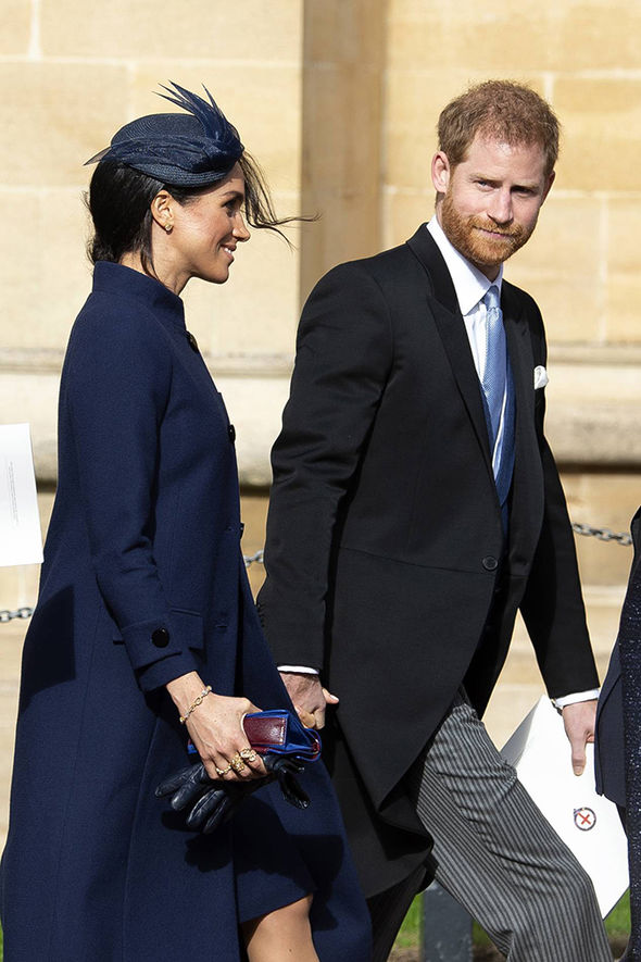 ROYAL BABY Meghan sparked rumours at Eugenies wedding due to her large coat Image EPA