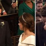 Royal Wedding Groom Jack Brooksbank burst into tears as Princess Eugenie arrived Image ITV