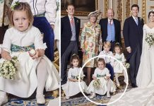 Royal Wedding bridesmaid Mia Tindall looks less than impressed Image Alex Bramall PA Wire