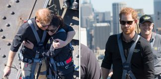 Royal news Prince Harry shared an emotional hug with Gwen Cherne Image Getty