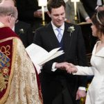 Royal wedding Princess Eugenie and Jack Brooksbank looked nervous during the ceremony Image GETTY