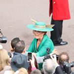 Sarah Ferguson launched into the crowd ahead of the wedding ceremony Image PA
