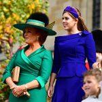 Sarah Ferguson looks emotional as Princess Eugenie and Jack Brooksbank leave church Image GETTY